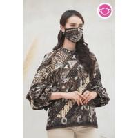 Keropi Solo T0561,Baju atasan blouse batik wanita modern nona rara