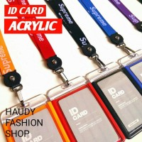 ID CARD HOLDER Supreme ACRYLIC / GANTUNGAN NAMA Zp