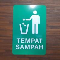 Rambu Tempat Sampah 15x20CM SIGNAGE