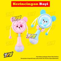 Krincingan Mainan Bayi Lucu Edukasi Tongkat Rattle Music LED Teether - Merah Muda, ELEKTRIK 02
