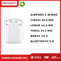 ORIGINAL Apple Airpods 2 WIRED With Charging Case Garansi Inter