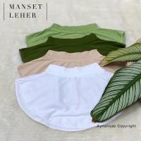 Manset Leher Wanita Muslim / Mangset Leher / Manset Dada / Mangset