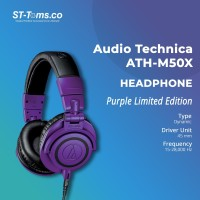 Audio Technica ATH-M50X Professional Monitor Headphones Limited Purple