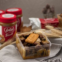 Browbox Lotus Biscoff - Brownies Dessert Box - Brownis Cokelat