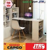 Meja Kerja / Meja Belajar Minimalis Bwork KHUSUS KURIR CARGO120*46*120 - Putih