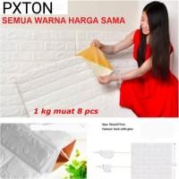 Wallpaper Dinding Wallpaper 3D Motif Foam Batu Bata Walpaper Per Lemba