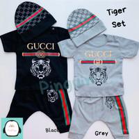 Setelan Anak Bayi Laki-Laki Baju Kaos Lengan Pendek Karakter 1 Tahun