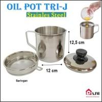 Oil Pot Tempat Wadah Saringan Minyak Stainles steel