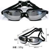 Swim Goggles Kacamata Renang Normal Minus Anti Fog Anti Kabut UV