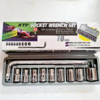 KUNCI SOK SHOCK KTP 10PCS SOCKET WRENCH SET GU TD233
