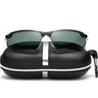 Kacamata Polarized Sunglasses Polaroid Anti UV - Hitam Kehijauan