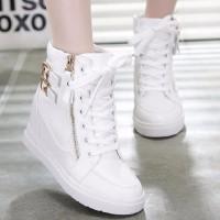 SEPATU BOOT WEDGES ZR30 PUTIH - Putih, 37 - Helo Shoes