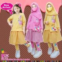 Little pineapple Setelan tunik Fruity hijab anak 3-8Y