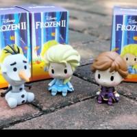 figure frozen chibi set 3 pcs princess disney pajangan mobil