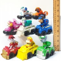 Mainan Paw Patrol With Cars Combo Pack Set 8 Pcs Figure