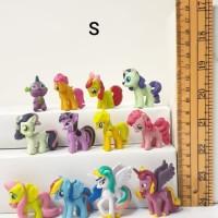 my little pony set 12 S hiasan kue topper cake mainan