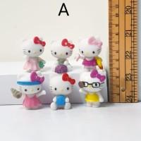 mainan figure hello kitty chibi set 6 A