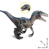 Mainan Dino Velociraptor Dinosaurus Raptor Blue Figure Jumbo