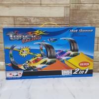 Mainan Track Racing 2 In 1 Hotwheel Diecast Jalur