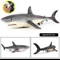 Mainan anak Simulator Hiu Great Shark Kiss Toys Soft Plush Doll