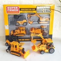 Mobilan anak Die Cast Contruction Car Metal Mainan