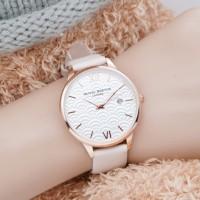 jam tangan OLIVIA BURTON WANITA WHITE DIAL LEATHER