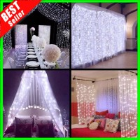 ✅COD Lampu LED 300 Pcs 3x3meter Dekorasi Gorden Hias Wedding Murah