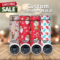 TUMBLER NATAL CUSTOM NAMA SMART TUMBLER LED STAINLESS - NATAL LED 1