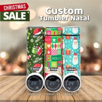 TUMBLER NATAL CUSTOM NAMA SMART TUMBLER LED STAINLESS - NATAL LED