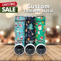 TUMBLER NATAL CUSTOM NAMA SMART TUMBLER LED STAINLESS -NATAL LED 2