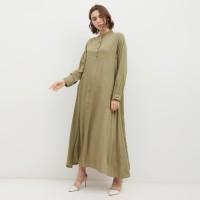 NONA Basic Dress Maxi Army Green