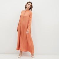 NONA Basic Dress Maxi Orange