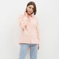 NONA Basic Oversized Shirt Peach