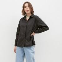NONA Basic Oversized Shirt Black