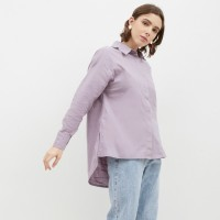 NONA Basic Oversized Shirt Lilac