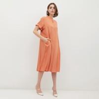 NONA Basic Dress Midi Orange