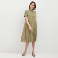 NONA Basic Dress Midi Army Green