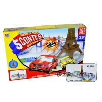 Mainan Anak Laki Dream Of Track Contest Car Play Set 163 Pcs 95-22