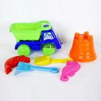 Mainan Edukasi Mobil Dump Truk Kecil Sekop Pasir Pantai Beach Toy