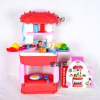 Mainan Anak Mobile Kitchen Set 3 in 1 Tas Koper Peralatan Masak