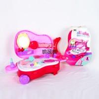 Mainan Anak Perempuan Violin Makeup Make Up Beauty Dresser 2 in 1