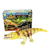 Mainan Anak Prehistoric Crocodile Buaya Jalan Lampu Suara Aligator