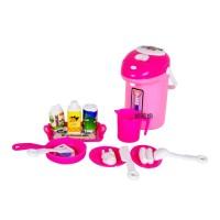 Mainan Anak Kitchen Set Dispenser Air Water Peralatan Makan 12 Pcs