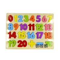 Mainan Edukasi Anak Wooden Puzzle Kayu Chunky Angka Number Simbol