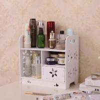 Rak Kosmetik Kayu Kotak WPC Tempat Makeup Tahan Air Original A868