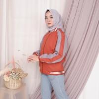 Jaket Boomber Bolak-Balik / Jaket Parasut Premium Orange SKJ ORANGE - Orange, opsi M