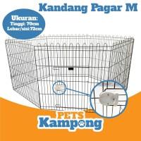 Kandang pagar kelinci kucing anjing 1 set 6 sisi tinggi 70 x 70