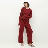 NONA Homewear Set Long Red