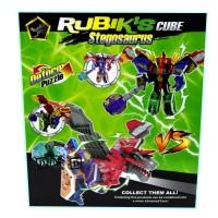 Mainan Anak Super Dinosaur Rubiks Cube Dino Transform Figure Robot