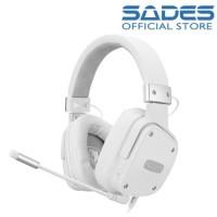 Sades SnowWolf - Headset Gaming - Putih